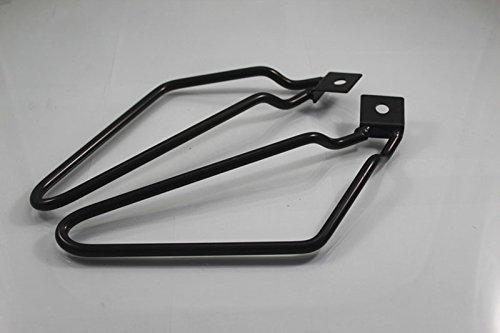 Motorcycle 1set Saddlebag Brackets Support Black for Harley Sportster 883 Iron XL883N Dyna Fat Bob FXDF