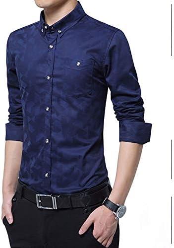 IYFBXl Camisa de Hombre - Estampado de Colores sólidos/geométricos, Azul Marino, XXXXXL: Amazon.es: Deportes y aire libre