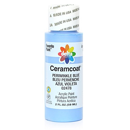 - Delta Creative Ceramcoat Acrylic Paint in Assorted Colors (2 oz), 2478, Periwinkle Blue
