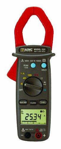 AEMC 514 Clamp-On Meter, 4000 Ohms Resistance, 750V AC, 1...