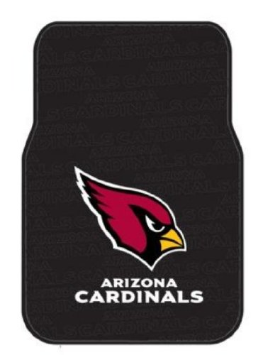 (The Northwest Company Officially Licensed NFL Arizona Cardinals Auto Front Floor Mat, 2-Pack)
