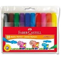 Faber-Castell 5068030047 Jumbo 47 Markör, 10'Lu Poşet, 10 Renk