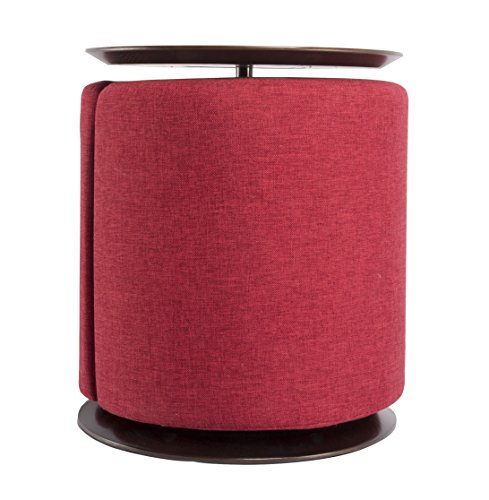 Monarch Side Table and Ottoman (Red)