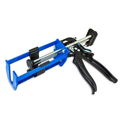 AES Industries 200mL 1:1 and 2:1 Dual Cartridge Applicator Gun for Dispensing Panel Bond Adhesive, Fillers, Structural Epoxy, Plastic Repair Epoxy and Adhesives