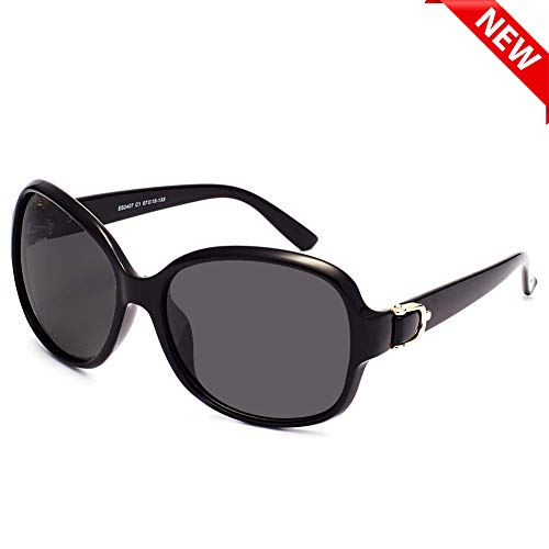 EFE Oversized Polarized Sunglasses for Women Composite Frame Fashion Designer Sunglasses, UV 400 ()