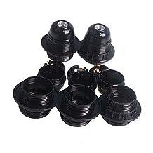 5pcs 110V 220V E27 Screw Black Light Bulb Lamp Holder Base Pendant Bulb Socket