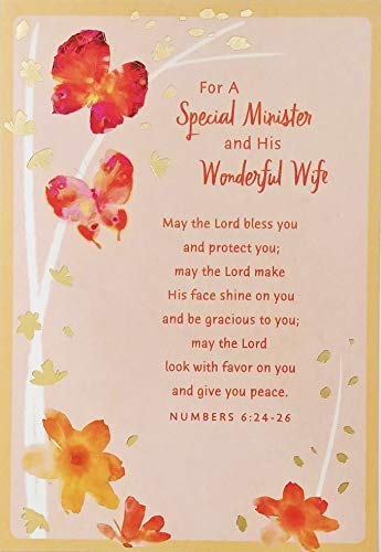 For A Special Minister and His Wonderful Wife Appreciation Greeting Card -Thank You For Your Faithful Service and For Allowing The Love of Christ To Shine Through You Both