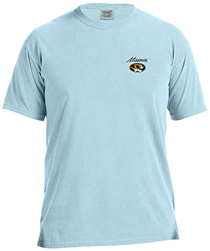 Image One NCAA Missouri Tigers Adult Unisex NCAA Marquee Comfort Color Short sleeve T-Shirt,XL,Chambray (Missouri Tigers Jersey)