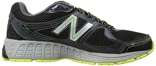 Nouvelles Chaussures Hommes M680 Course De La Balance Du Noir / Jaune