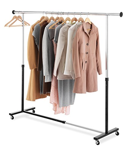 Whitmor Adjustable Rolling Garment Rack (Whitmor Adjustable Garment Rack)
