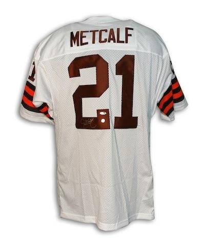 pretty nice 4cc00 cb506 Eric Metcalf Cleveland Browns Throwback Jersey Autographed ...
