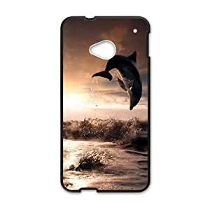 Dolphins CHA2041660 Phone Back Case Customized Art Print Design Hard Shell Protection HTC One M7