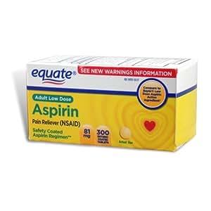 Equate - Aspirin 81 Mg, Adult Low Strength Aspirin Regimen Low Dose 300ct by Equate
