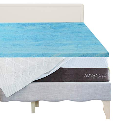 Gel Memory Foam Mattress Topper Twin Extra Long, Plush 2 Inch Thick, Premium Gel Infused Twin XL Memory Foam Mattress/Bed Topper/Pad for a Soft, and Comfortable Sleep. Made in The USA-3 Year Warranty ()