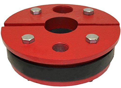 Merrill MFG WS558125 Cast Iron Well Seal Series WS, Single Drop Pipe, Split Top Plate, 5-5/8