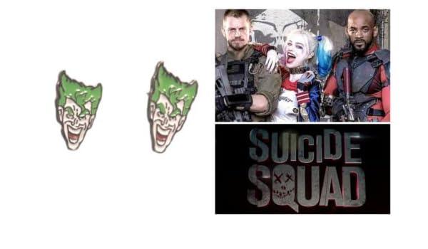 DC Comics Suicide Squad Joker - Pendientes de poste para cosplay con caja de regalo: Amazon.es: Juguetes y juegos