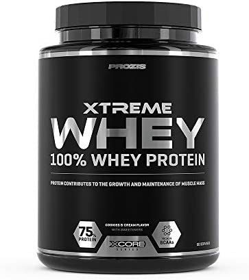 Prozis Xtreme Whey Protein SS Aumenta el Crecimiento y el Mantenimiento de la Masa Muscular, Suplemento Vegetariano con BCAA, Glutamina y Vitaminas, ...