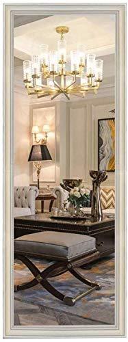 JIANGLI Vintage Wall-Mounted Vanity Mirror with Framed Rectangular Wall Mirror for Bathroom -