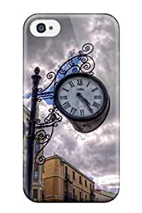 Anti-scratch And Shatterproof Corner Clock Phone Case For Iphone 4/4s/ High Quality Tpu Case
