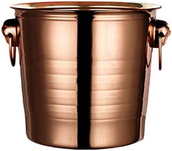 Oro Rosa 3L Elegante Hielera,5L Premium Cubitera,7L Cubo De Hielo Y Enfriador De Botellas En Un Diseño Moderno,Conveniente para El Champan Que Se Refresca,Cerveza Refrigerada.(Size:7L)