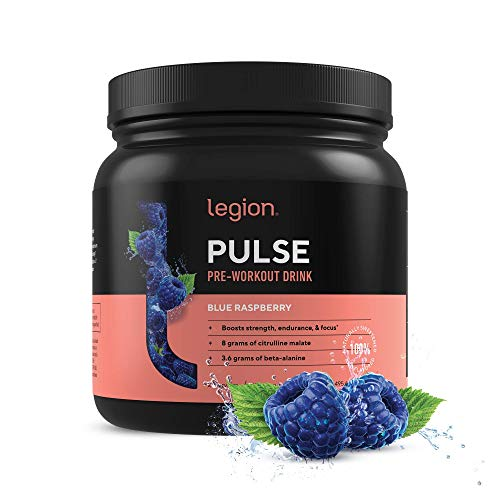 Legion Pulse Pre Workout Supplement – All Natural Nitric Oxide Preworkout Drink to Boost Energy & Endurance. Creatine…