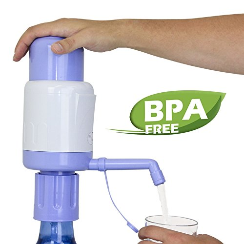 5 Gallon Glass Bottles (TeraPump TRPMW200 Universal Manual Drinking Water Pump, Fits Any Bottle, Excluding Glass bottle)