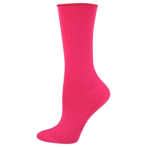HUE Women's Socks Jeans Roll Top Crew Pink Pop 1pair