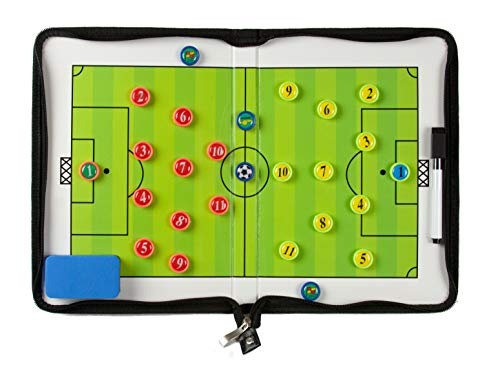 Coaches Vision Soccer Coaching Board - Foldable Strategy Board with Magnets, Eraser and Marker Pen (Big Soccer Board)