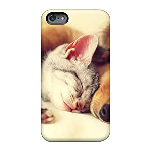 Shock Absorption Hard Cell-phone Case For Apple Iphone 6 Plus (SCN19287PHNV) Support Personal Customs Trendy Cat And Dog Image