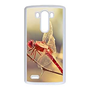 LG G3 Cell Phone Case White Dragonfly D2M1E