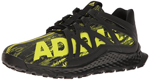 adidas Men's Vigor Bounce m Trail Runner, Shock Slime/Black, 11.5 M US Review