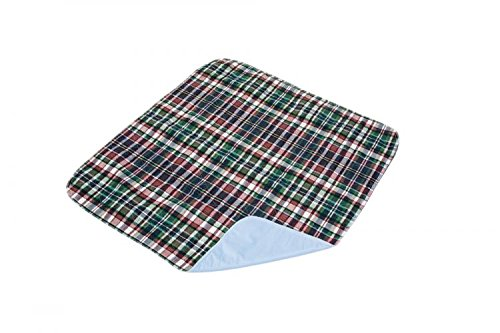 Essential Medical Supply Quik Sorb 24 x 36 Plaid Quilted Reusable Underpad by Essential Medical Supply