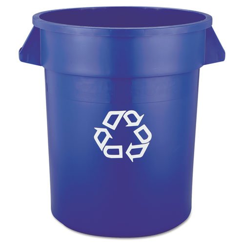 Rubbermaid Commercial Brute Recycling Container, Round, 20 gal, Blue - Includes one each.