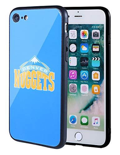 The Mass iPhone 8 case, iPhone 7 case, NBA Team Logo on Tempered Glass Back Cover and Soft TPU Frame for Apple iPhone 8/7 (Denver Nuggets, 4.7 - Nuggets Apple