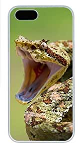 2013 Year Of The Snake Special Edition Desktop Polycarbonate Plastic iPhone 5S and iPhone 5 Case Cover White hjbrhga1544
