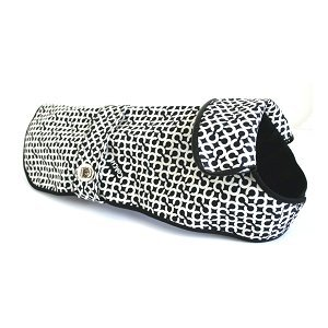 "COACH OP Art Signature ""C"" Dog Rain Coat 60392 Limited Edition - Black/White, Small"