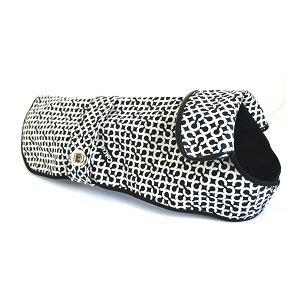 "COACH OP Art Signature ""C"" Dog Rain Coat 60392 Limited Edition - Black/White, Small"