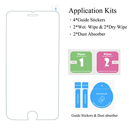 AILUN Screen Protector with iPhone 6 6s Plus,,2.5D Edge Glass,Anti-Scratch,Case Package