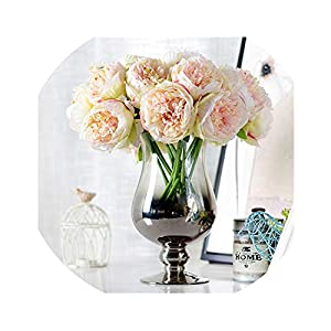 be-my-guest 4 Colours 1Bunch European Artificial Flower Artificial Peony Bridal Bouquet Christmas Wedding Party Home Decorative 19