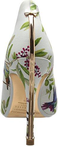 Ted Baker Ladies Hallden Chiuso Ballerine Bianco (highgrove Hummingbird #ffffff)