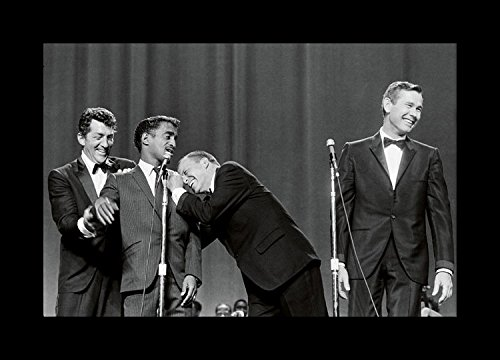 Historical Photo Collection 8 x 10 Photo Framed Rat-Pack-1965 On Stage With Johnny Carson On High Qquality Fiji Film Paper