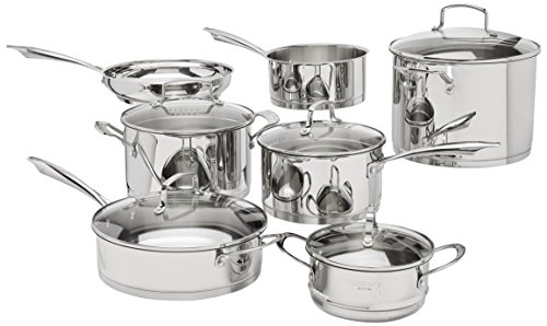 Cuisinart 89-13 13-Piece Professional Stainless Cookware Set (Cuisinart 7 Piece Stainless Steel Cookware Set)
