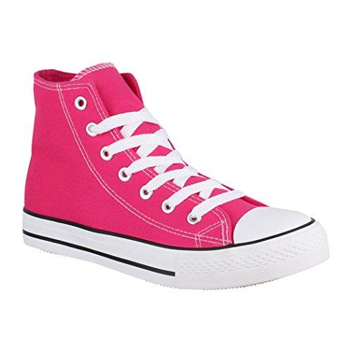 Elara Unisex Sneaker | De Baskets Unisexe Damen Herren High Top Chunkyrayan Fuchsia Basic (f?llt Gr??er Aus) Femmes Hommes Haut Base (est Plus Grande)