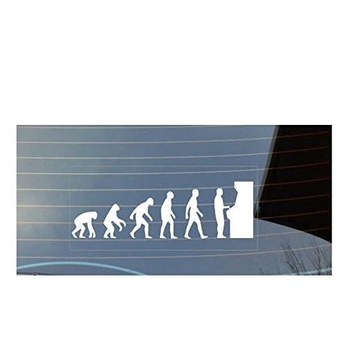 De Sticker Fenêtre Evolution GamerArcade Voiture L'homme qVUSpzM