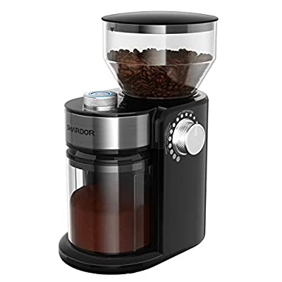 SHARDOR Electric Burr Coffee Grinder, Adjustable Burr Mill with 18 Precise Grind Setting for 2-14 Cups, Black by SHARDOR