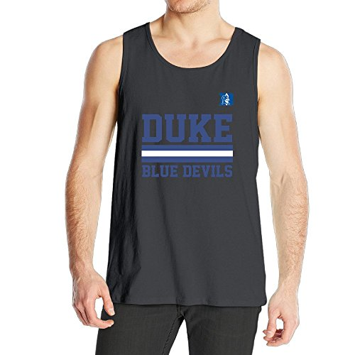 Men's Duke Blue Devil Tank Top Black (Devil Man Adult Vest)