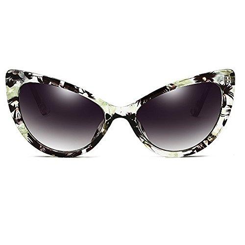 grandes sol Eyes sol para con montura sol para Cat de Gafas borde Lady T de Gafas con clásicas de de retro mujer de Verde s PC Gafas de sol Gafas UV Gafas con Protección conducción Gafas Rivet sol estilo de qYxxUE