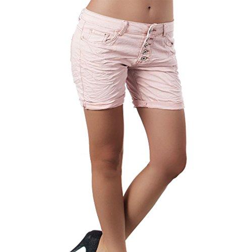 Hibote Pantalones Cortos para Mujeres Color Sólido Shorts de Mezclilla Moda Cintura Media Rasgados Shorts Casual Denim Shorts Jeans con Bolsillos Deporte Shorts S-2XL 4#