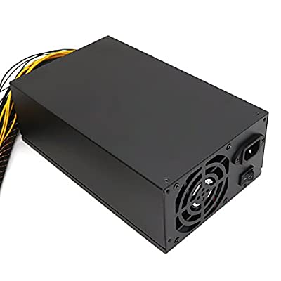 KKmoon 2200W 180-260V Switching Power Supply 90% High Efficiency for Ethereum S9 S7 L3 Rig Mining