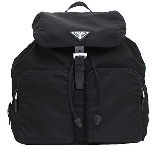 Prada Zainetto Unisex Black Tessuto Nylon Backpack Rucksack 1BZ005